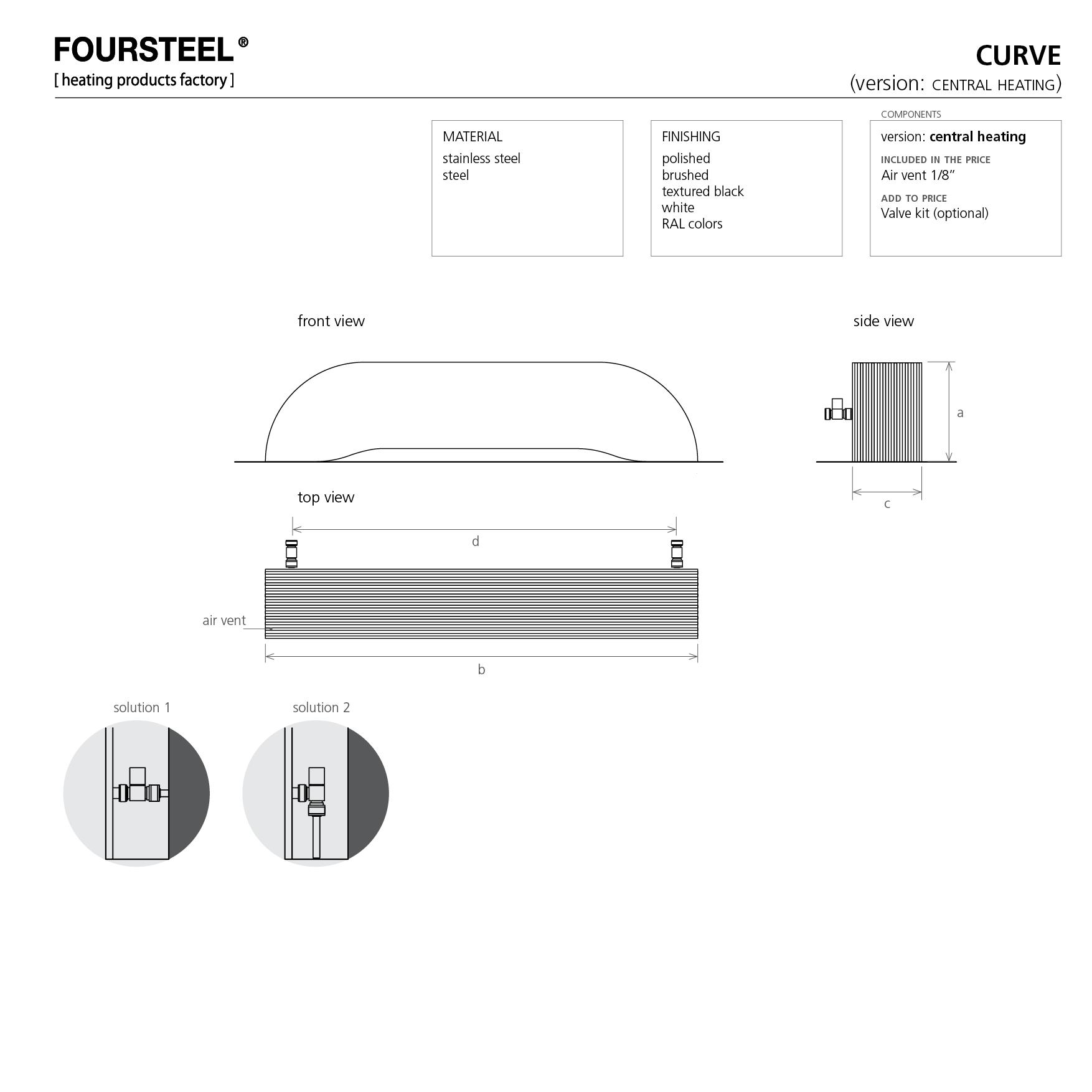 design radiator CURVE Foursteel